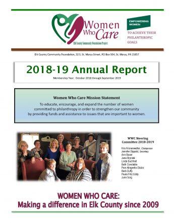 2018-19 WWC annual report cover